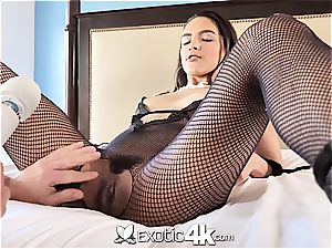 Exotic4k latin Adrian Hush strapped up screw and internal ejaculation