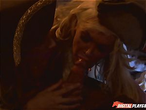 Pirate rams his hard meat sword into Devon and Teagan Presley