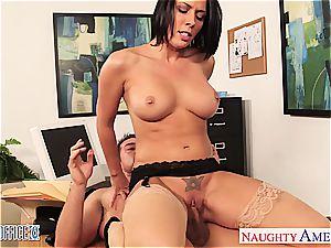 nasty Rachel Starr mischievous for fuckpole at the office