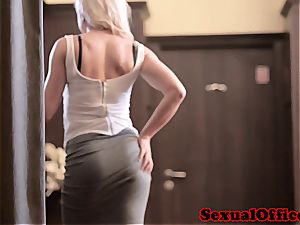 hefty hooter assistant super-naughty for a hookup at the office