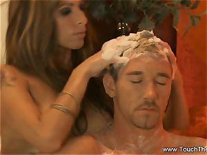 suffering Golden massage cougar blondie