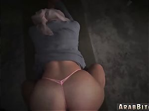 Arab damsel with pig tails and gorgeous gals Aamir s Delivery
