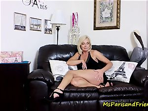 jizz on Mommy's funbags with Ms Paris Rose