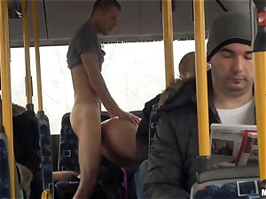 Lindsey Olsen tears up her dude on a public bus