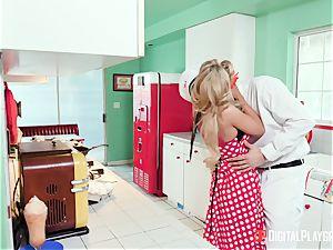 Kayla Kayden jerking the milkman