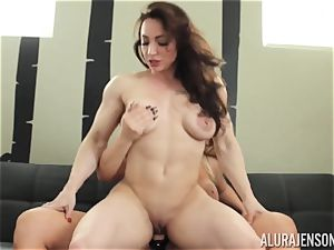 Alura Jenson cootchie filled with belt dick strenuous muscled girl Brandi May