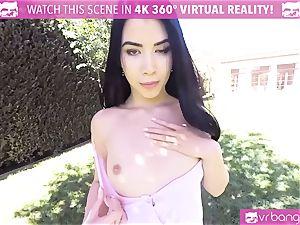 VR PORN-Hot ebony boned rock-hard pov