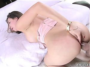 men banging hard-core and tight tape wrap gag Melissa Moore begs For tough intercourse