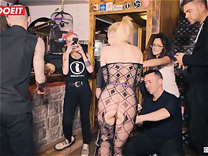nubile ash-blonde gets abjected in harsh bdsm fucky-fucky adventure
