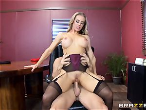 super-steamy manager Nicole Aniston taking a hefty spear in the office