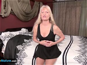 EuropeMature aged grandmothers Amy and Cindy getting off