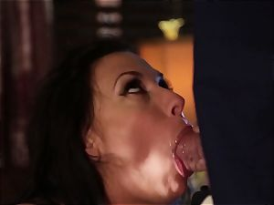 Rachel Starr humping an unexpected visitor