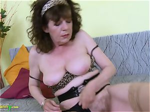 OldNannY great Mature fur covered beaver plaything onanism