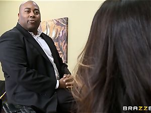 Alison Tyler gets her round beaver dicked in the office