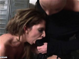 Kathia Nobili lets a super hot female deep-throat her cable on
