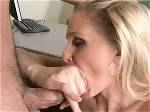 Julia Ann is a gonzo cougar who wants to put her snatch on a rock-hard boner