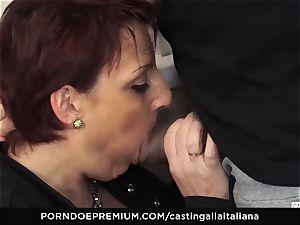 casting ALLA ITALIANA Mature sandy-haired culo screwed deep