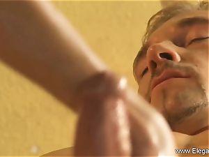 The greatest Golden hand-job massage Ever