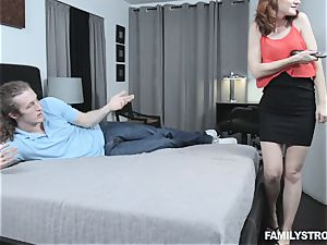 Kelsey Kage messing with her horny step bro
