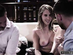 unspoiled TABOO babe Tricked Into vengeance three way with Strangers