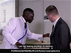 pornography ACADEMIE - rectal threeway with ash-blonde college girl