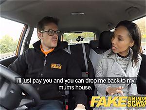 fake Driving school Pretty black female seduced