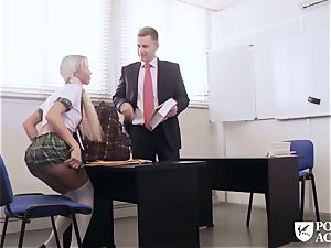 porn ACADEMIE - student Lara Sins gets cum adorned