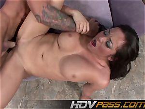 HDVPass Mia Lelani drizzles All Over a thick spunk-pump