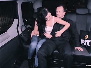 penetrated IN TRAFFIC - nasty Daphne Klyde backseat nail
