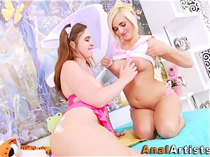 teenagers rim cream-colored arses