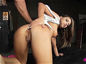 Alluring Adriana does her finest to satiate trio dicks