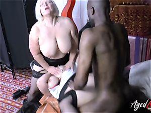 AgedLovE Lacey Starr interracial threeway