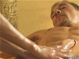 sensual rubdown For His exhausted rod