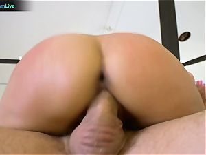 black-haired honey Jynx labyrinth ideal buttfuck session