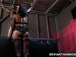girly-girl dominance and strap-on act