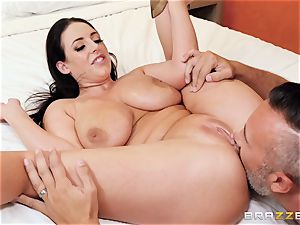 Angela milky hammered in her uber-cute lil' booty crevasse