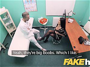 faux clinic huge baps grind babe Ania Kinski